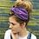 Thumbnail: Purple polka dot turban band