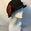 Thumbnail: Black and red flower cloche hat