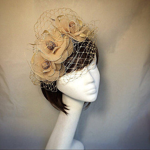 Nude Flower Fascinator 64