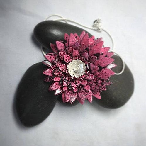 Pink black necklace