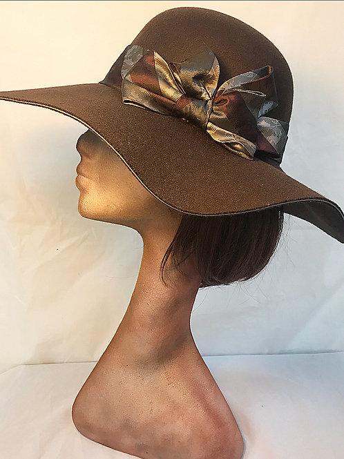 Brown floppy brim hat