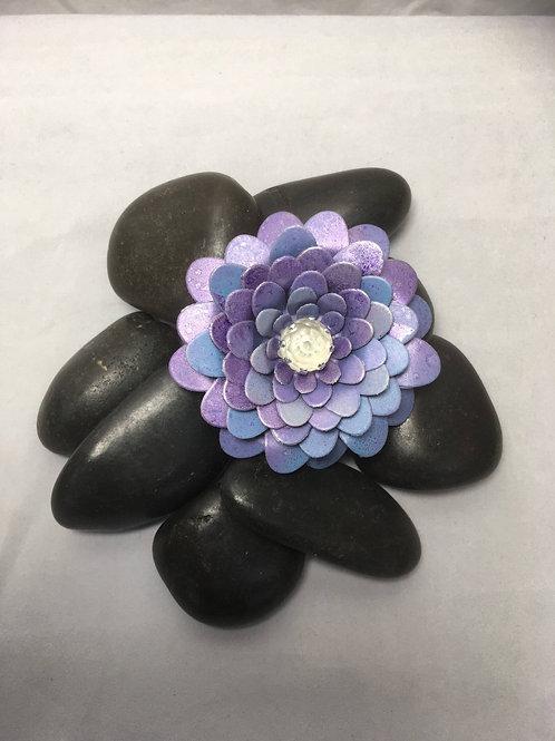 Violet blue brooch-clip