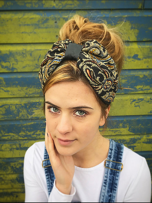 Paisley quilted turban band