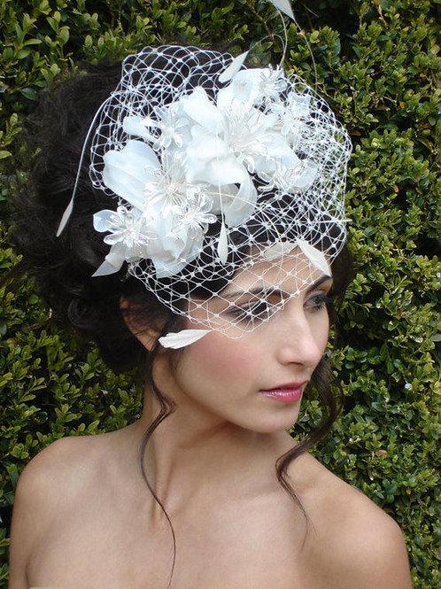 Bridal Fascinator, 1950s bride 04