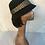 Black wool vintage hat