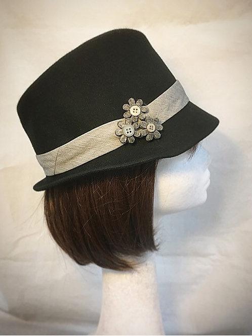 Black small ladies hat