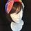 Thumbnail: Blue bright floral turban band