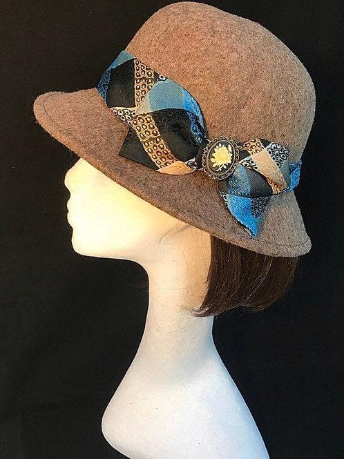 tan downton hat