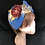Thumbnail: Blue check floral turban band