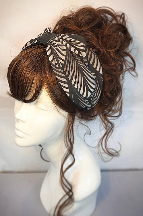Art Deco print turban headband
