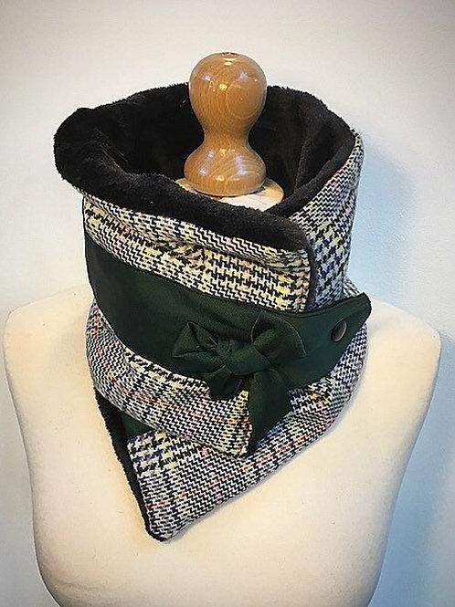 Tweed ladies neck scarf