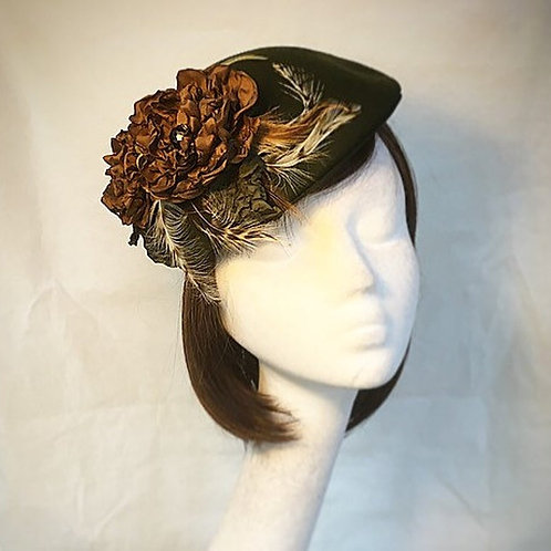Green beret fascinator FH8