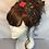 Thumbnail: Black and red print turban band