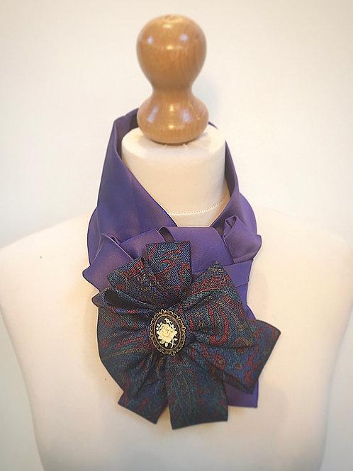 Purple cameo cravat
