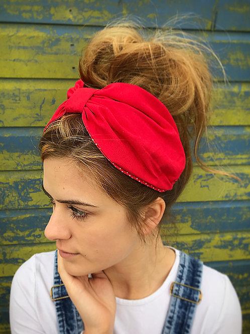 Plain red turban band