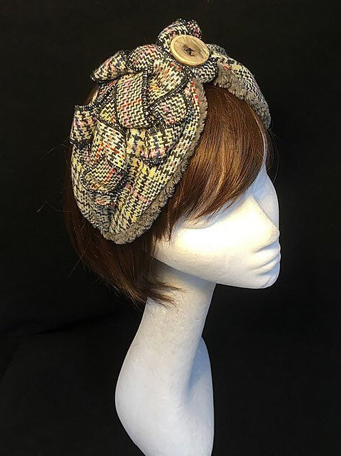 Vintage tweed headband TB8