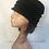 Thumbnail: Black soft wool embellished hat