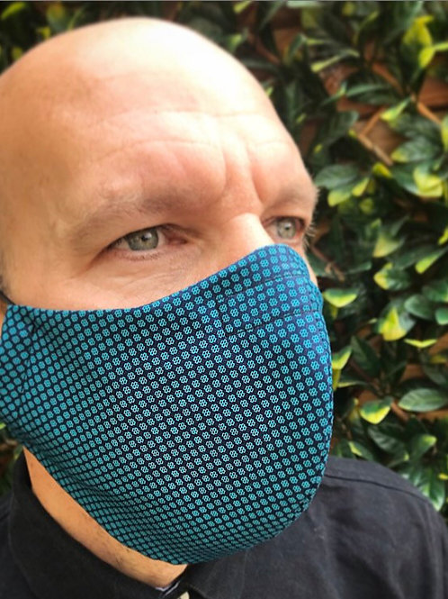 Mans large blue deluxe face mask