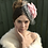 Thumbnail: Pink rose grey fascinator