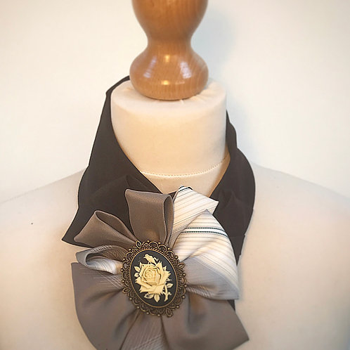 Brown cameo cravat