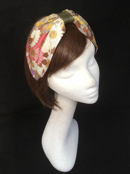 Vintage Floral turban CB27