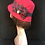 Thumbnail: Red downton hat