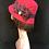 Red vintage hat