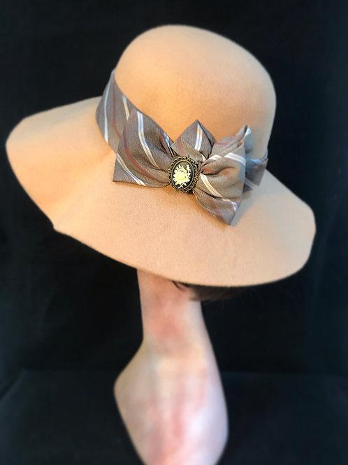 wide brim beige cream hat