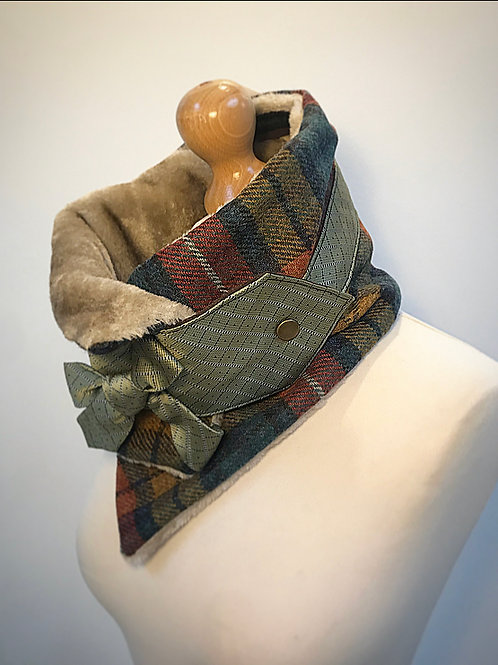 Multi tweed neckwarmer