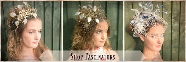 Fascinators shop tab, bespoke headress,