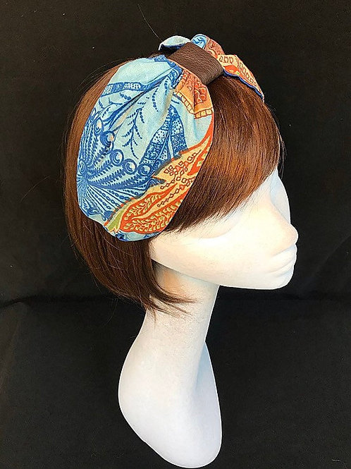 Blue summer turban CB31