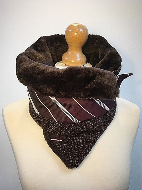 Brown neck warmers