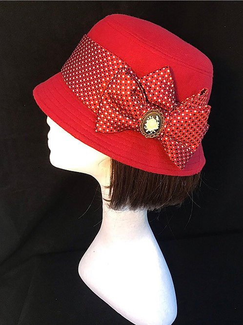 Red Downton hat