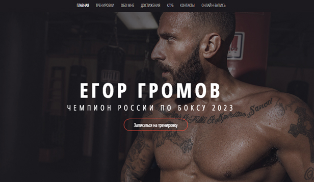 Все шаблоны website templates – Боксер
