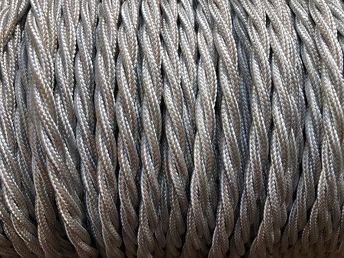 Light Silver Twisted Fabric 3 Core Cable £4.95 Per MT