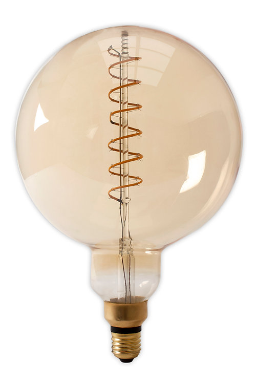 4w ES E27 200mm Spiral LED Globe Dimmable Amber