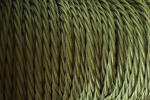 Cyprus Green Twisted 3 Core .5mm Cable £4.95 Per MT