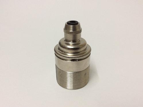Nickel Edison Screw Lampholder E27