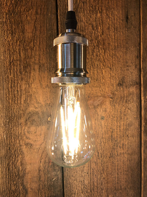 6W ES E27 Squirrel Cage Clear LED dimmable