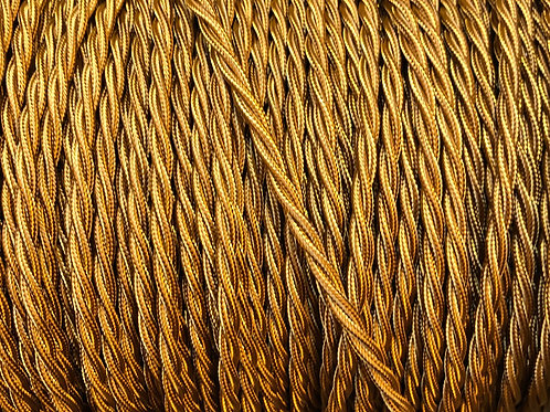 Antique Gold Twisted 3 Core .5mm Cable £4.95 Per MT