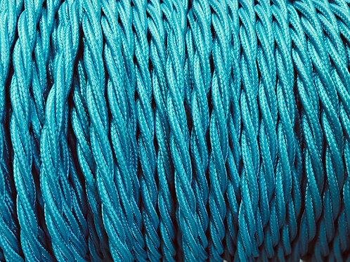Turquoise Twisted Fabric 3 Core cable £4.95 Per MT