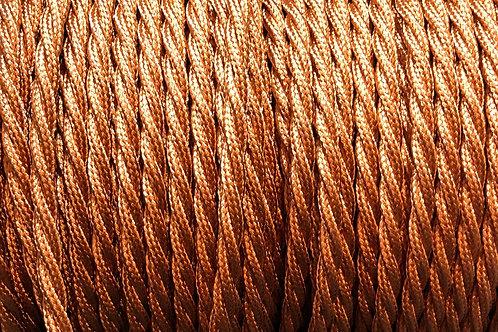 Rayon Copper Fabric 3 Core Twisted Cable £4.95 Per MT