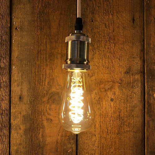 4w ES E27 Spiral Squirrel Cage Gold LED Dimmable