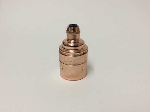 Copper Plain Edison Screw Lampholder E27