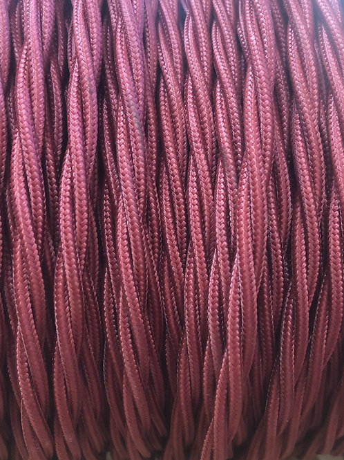 Burgundy Twisted 3 Core Fabric cable £4.95 Per MT