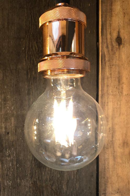 6W ES E27 G95 Clear LED Globe