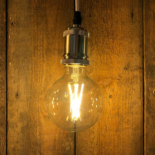 6w ES E27 G125 Large Globe Clear Squirrel Cage LED Dimmable globe