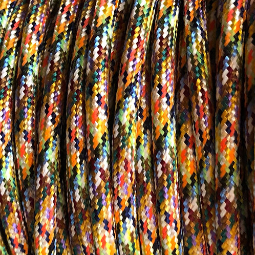 Multi Coloured Round Fabric Cable £4.95 Per Mt