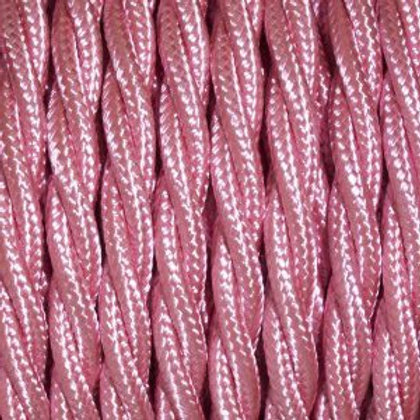 Baby Pink Twisted Cable 3 Core Cable £4.95 Per MT