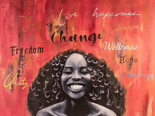 Change, Alchemist limited edition people power embellished print